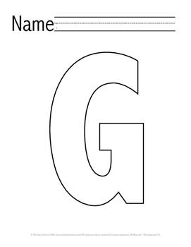 Letter 'G' Pre-K Packet