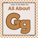 Letter G- Preschool Letter of the Week Unit