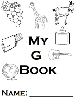 Letter G Printable Book and Homework (Autism, Handwriting, Reading)