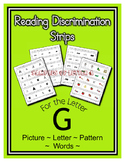 Letter G Reading Discrimination Strips for Fluency and Alp