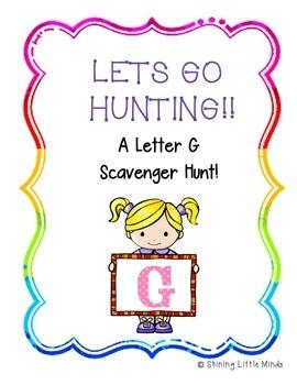 Letter G Scavenger Hunt