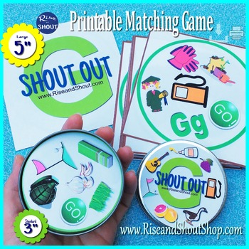 Letter G Sound Shout Out; Spot the Match Game, articulatio