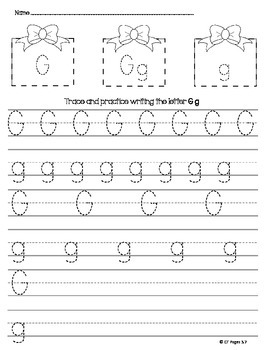 letter g trace by ct pages teachers pay teachers. Black Bedroom Furniture Sets. Home Design Ideas