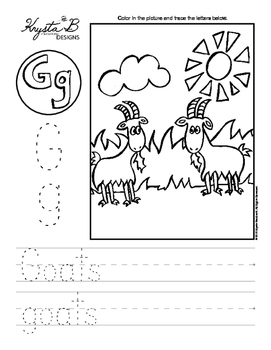 Letter G Trace and Write Worksheet Pack