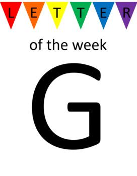 Letter G Unit