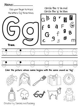 letter g worksheet by sanchilovesteaching teachers pay teachers. Black Bedroom Furniture Sets. Home Design Ideas