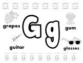 letter g worksheets teachers pay teachers. Black Bedroom Furniture Sets. Home Design Ideas