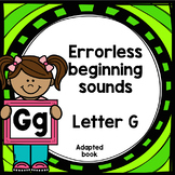 Letter G adapted book errorless learning