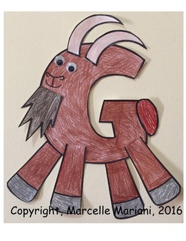 Letter of the week- Letter G art activity- G is for Goat Art Activity
