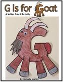 Letter G art activity- Goat Art Activity- G is for Goat