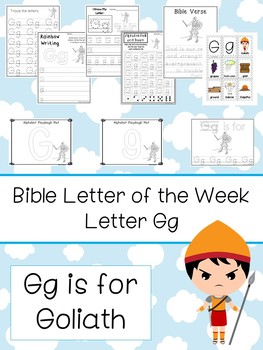 Letter G is for Goliath. Bible Letter of the Week.