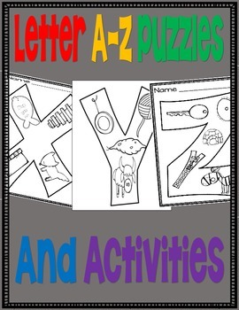 Letter A through Z Puzzles