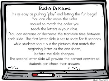 Letter Game Digital Paperless Resource