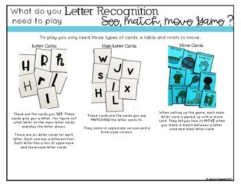 Identifying Letter Game- See, Match, Move