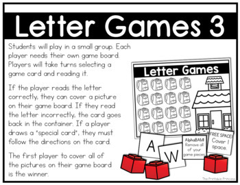 Alphabet Games  {Alphabet Activities to Teach Letter Recognition}