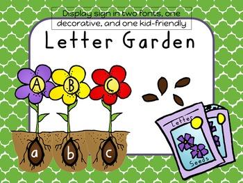 Letter Garden Interactive Wall Display