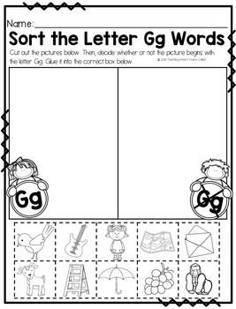 Letter Gg Activity Pack
