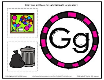 Letter Gg Beginning Sound Picture Web Activity
