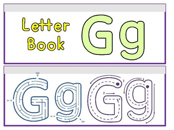 Letter Gg Binder Book