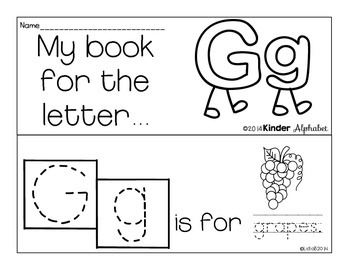 Letter Gg Booklet- Predictable Sentences