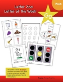 Letter Gg (G is for Things That Go): Letter Zoo- Preschool