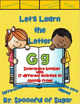 Letter Gg- Interactive Activities Booklet