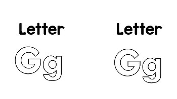 Letter Gg Lap book
