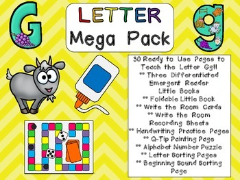 Letter Gg Mega Pack- Kindergarten Alphabet- Handwriting, L