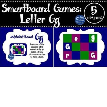 Letter Gg Smartboard Games (5 mini games) (Smartboard/Promethean Board)