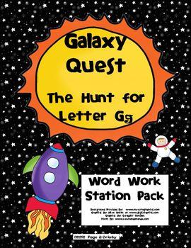 Letter Gg Word Work Literacy Station Pack