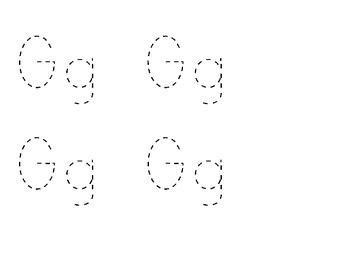 Letter Gg handwriting worksheet