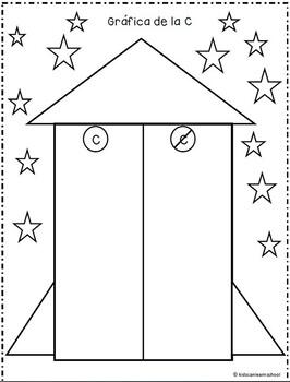 Letter Graphs.Graficas del Abecedario.Letter-sound recognition in Spanish