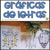 Letter Graphs.Graficas del Abecedario.Letter-sound recogni