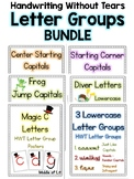 Letter Group Poster Bundle - Handwriting Without Tears Style
