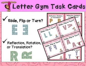 Geometry Task Cards (Slide, Flip, Turn - Translation, Refl