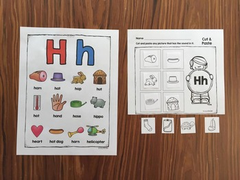 Letter H | Alphabet Printables and Centers