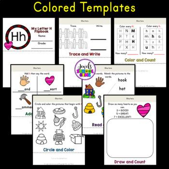 Letter H Alphabet Flip Book (Alphabet Interactive Notebook Activities)