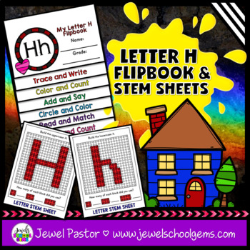Letter H Alphabet Interactive Notebook Activities Flipbook