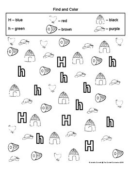 Letter H Activity and Center Packet