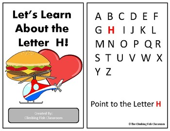 Letter 'H' Adapted Book