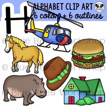 Letter H Clip Art Alphabet / Beginning Sound H