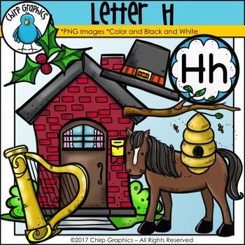 Letter H Alphabet Clip Art Set - Chirp Graphics
