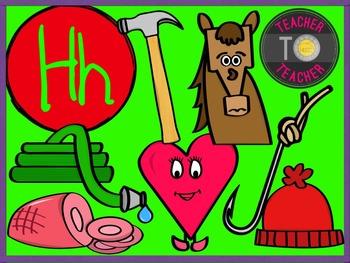 Letter H - Alphabet Clipart {TeacherToTeacher Clipart}