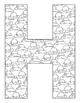 Letter H Alphabet Coloring Sheets ~ Beginning Sound Picture ~ Upper & Lower Case