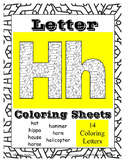 Letter H Alphabet Coloring Sheets ~ Beginning Sound Pictur