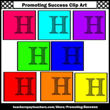 Alphabet Letter H Clipart, Beginning Letter Sounds Clip Art SPS