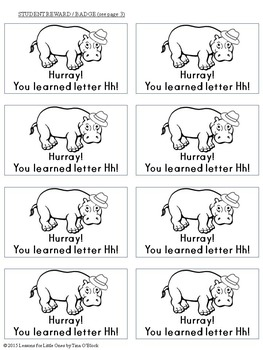 Letter H Unit - Differentiated Letter Writing Pages & Activities