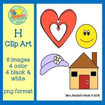 Letter H Alphabet Clip Art