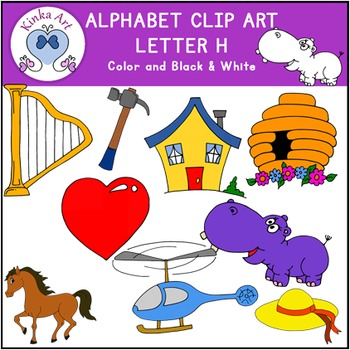 Letter H Clip Art {Beginning Sounds} Alphabet