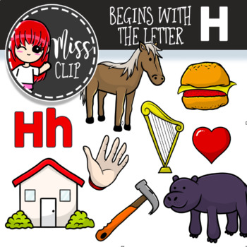 Letter H Clip Art Bundle {Miss Clip} Alphabet Commercial Use